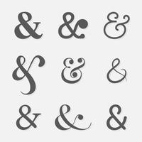 ampersand uppsättning vektor
