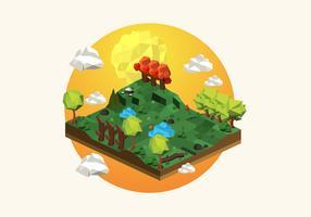 Low Poly Wald Hintergrund Illustration