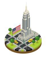 New York City isometrischer Empire State Building Vector