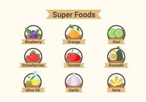 Super Foods Badges Illustrationer