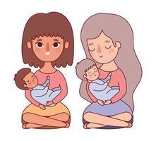 Mütter mit Babys Design