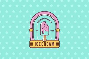Eiscremeshop Logo vektor