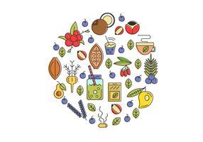 Super Lebensmittel Illustration Hintergrund