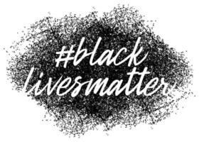 Schwarze Leben zählen. Protestbanner über die Menschenrechte der Schwarzen in Amerika. Vektorillustration.