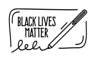 Schwarzes Leben Materie Protestbanner über die Menschenrechte der Schwarzen in Amerika. Vektorillustration. Symbol Poster und Symbol.