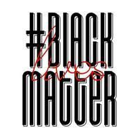 Ich kann kein Protestbanner über die Menschenrechte der Schwarzen in Amerika atmen. Vektorillustration. Symbol Poster und Symbol.
