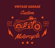 Weinlese Motorcyle Logos, Aufkleber, Emblem. vektor