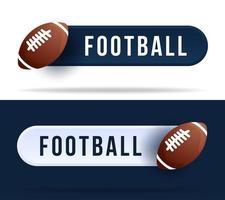 fotboll växlar knappar. vektor