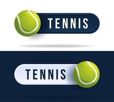 Tennis-Kippschalterknöpfe. vektor