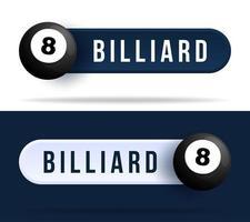 Billard-Kippschalterknöpfe. vektor