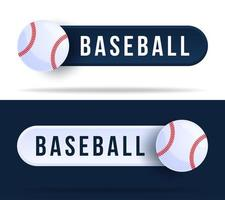 Baseball-Kippschalterknöpfe. vektor