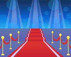 Ikonenhafte Hollywood-rote Teppich-Vektoren