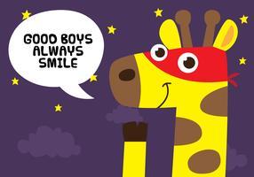 Super Giraffe Zitat vektor