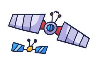 handritad satellit doodle ikon. handritad vektorillustration tecken i doodle stil vektor