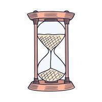 timglas ikon. handritad doodle tecknad vektorillustration vektor