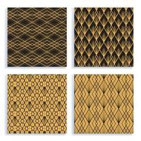 sömlösa mönster i art deco-stil. uppsättning av fyra vektorbakgrunder. vektor