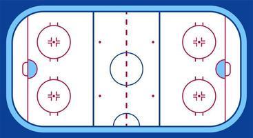 Vektor der Eishockeybahn. Texturen blaues Eis. Eisbahn. Draufsicht. Vektor-Illustration Hintergrund.