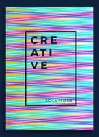 Neonplakat, Retro-Design, Sci-Fi-Muster der 80er Jahre, futuristischer Hintergrund. Flyer Vorlage. Formen, Bewegung, abstrakt, geometrische Vektorillustration für Musikpartyeinladung, minimalistisches Banner, Druck 1980.
