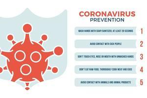 Corona Virus Covid-19 Prävention Gesundheitskonzept. Coronavirus 2019-ncov Pandemie Sars Fieber Vektor-Illustration mit Schild Symbol vektor