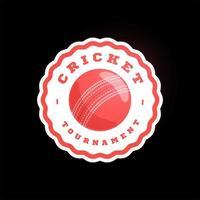 Cricket Kreis Vektor Logo. moderne professionelle Typografie Sport Retro-Stil Vektor Emblem und Vorlage Logo Design. buntes Volleyball-Logo