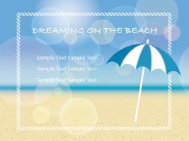 Vector Sommerhintergrundillustration mit einem Strandsonnenschirm.