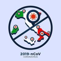 Ausbruch des Coronavirus aus Wuhan, China. Achten Sie auf neuartige Coronavirus-Ausbrüche in Italien. Verbreitung des neuartigen Coronavirus-Hintergrunds.
