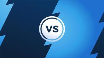 versus Monogramm mit Blitz und Buchstaben vs. Meisterschaftsbildschirm. vs Kampf Schlagzeile, Konflikt zwischen Teams. geteilter Bildschirm.