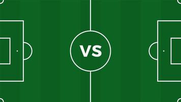 Fußballspiel gegen Mannschaften Intro-Sport-Hintergrund, Abschlussplakat des Meisterschaftswettbewerbs, flache Vektorillustration