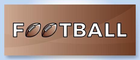 Vektor Typografie Wort Fußball Logo. Sportlogo mit Ausrüstung für Druckdesignvektorillustration