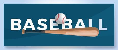 Vektor Typografie Wort Baseball Logo. Sportlogo mit Ausrüstung für Druckdesignvektorillustration