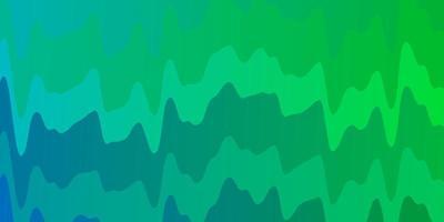 hellblauer, grüner Vektorhintergrund mit Kurven.