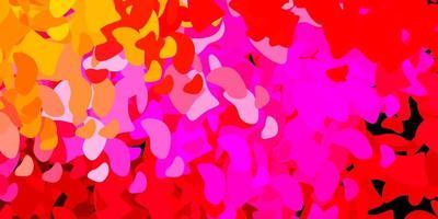 dunkelvioletter Vektorhintergrund mit chaotischen Formen.