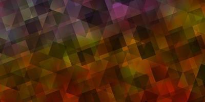 ljusblå, gul vektorlayout med linjer, trianglar.