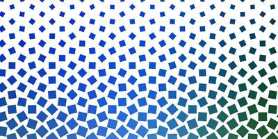 hellblaues, grünes Vektormuster im quadratischen Stil.
