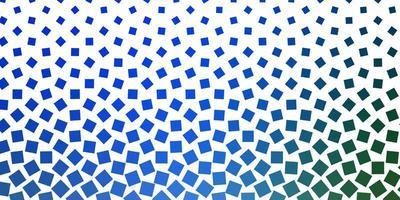 ljusblått, grönt vektormönster i fyrkantig stil. vektor