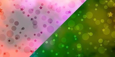 vektor layout med cirklar, stjärnor.