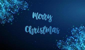 abstrakte Weihnachtskarte mit Tannenzweig vektor