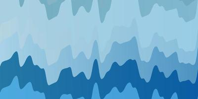 ljusblå vektor bakgrund med böjda linjer.