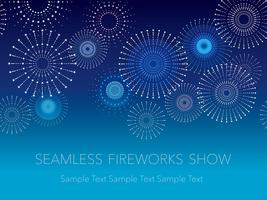 Ein nahtloser Feuerwerkshintergrund mit Textraum, Vektorillustration. vektor