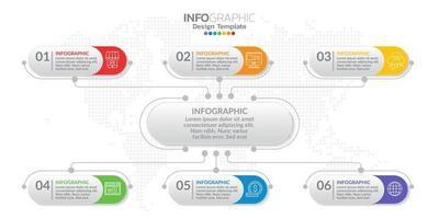 Infografik-Elemente für Inhalt, Diagramm, Flussdiagramm, Schritte, Teile, Zeitachse, Workflow, Diagramm. vektor