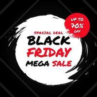 svart fredag mega försäljning bakgrund vektor
