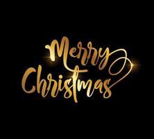goldenes fröhliches Weihnachtsvektorzeichen vektor