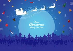 Weihnachtsnachtgeschenke, die vom Himmel fallen vektor