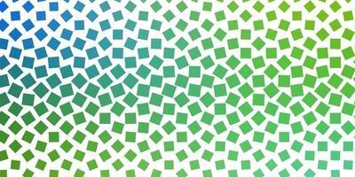 ljusblått, grönt vektormönster i fyrkantig stil.