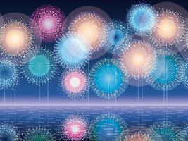 Nahtlose Feuerwerk Hintergrund Illustration. vektor