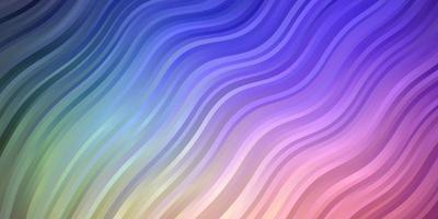 Licht mehrfarbiges Vektormuster mit schiefen Linien. vektor