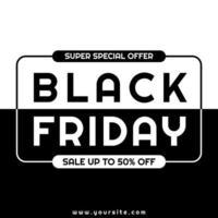 svart fredag modern minimalistisk design vektor