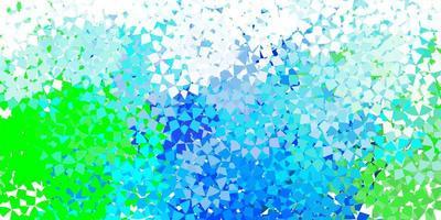 hellblaue Vektorbeschaffenheit mit dreieckigem Stil.