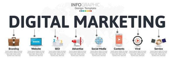 Infografiken für das Geschäftskonzept mit Symbolen und Optionen oder Schritten. vektor