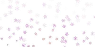 hellviolette, rosa Vektor Gekritzelschablone mit Blumen.